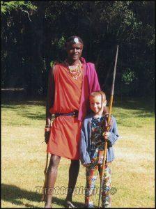 Guerrier Masaï et Valentin